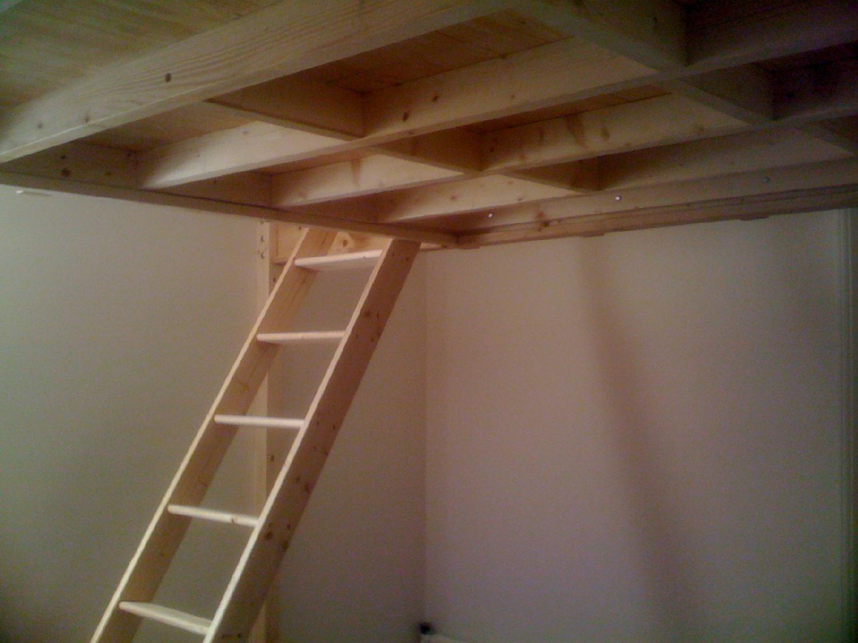 Mezzanine joy studio design gallery photo - Plan lit mezzanine en bois ...