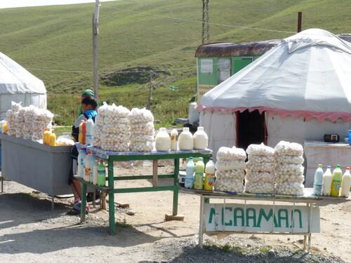 Kirghistan, fromages au lait de jument