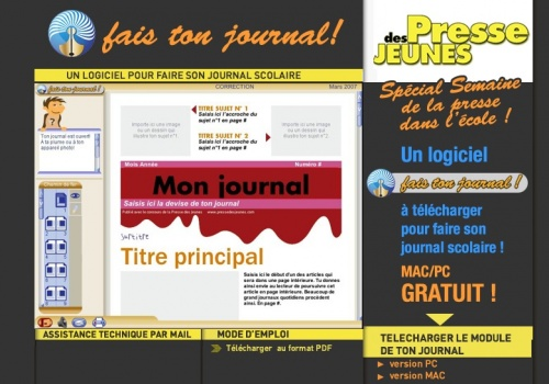 Projet presse cycle 3 le remue m ninges d 39 lise - Comment creer un journal ...