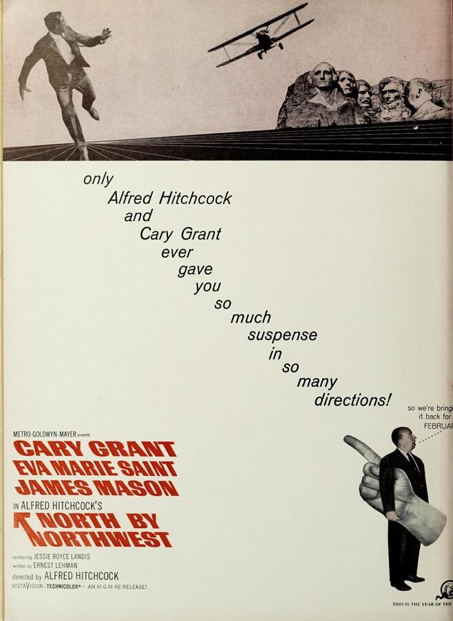 NORTH BY NORTWEST BOX OFFICE USA 1966