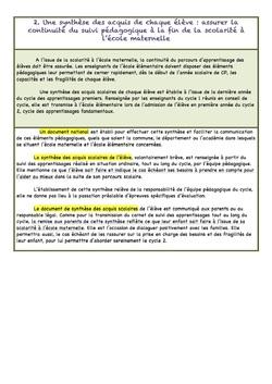 Suivi et évaluation des apprentissages des élèves