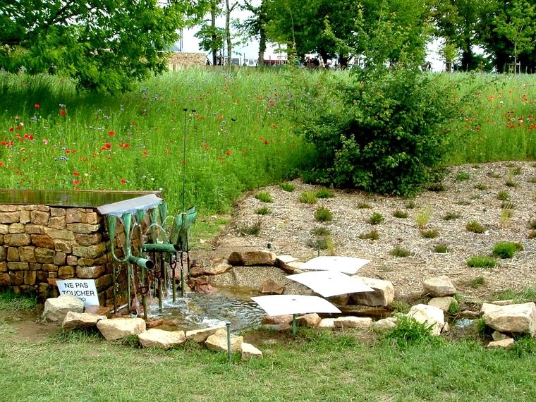 L'inauguration ce week end du jardin des sons de la Borie en Limousin.2/3