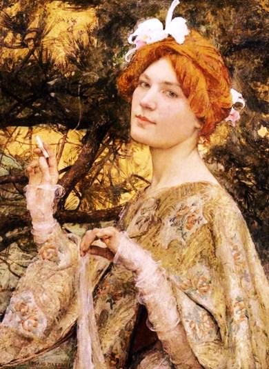 """"""" La Femme à l'Orchidée """"(1900)"""