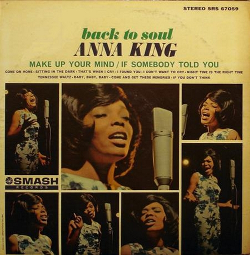 "1965 Anna King : Album "" Back To Soul "" Smash Records SRS 67059 [ US ]"