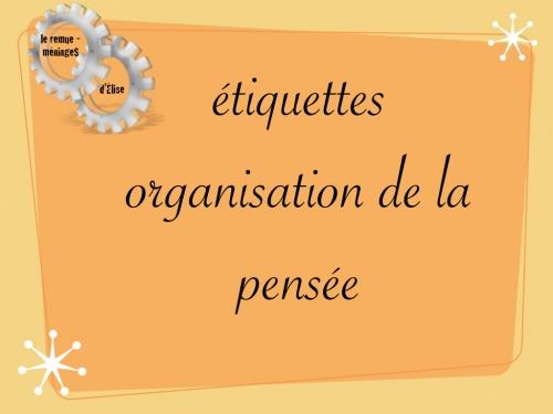 Etiquettes organisation de la pensée