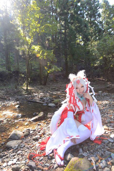 Models Cosplay : ( [Shooting Star's] - |COMICMARKET89 ( C89 )| Saku/サク : 狐火 mayoiga )