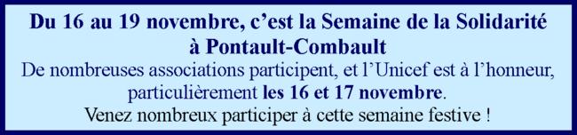 semaine de la solidarité à Pontault-Combault
