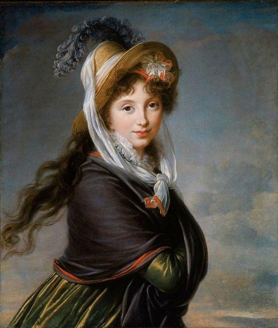 Élisabeth Vigée Le Brun - Portrait de jeune femme: