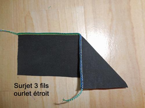 Surjeteuse Surjet (Overlock) 3 fils ourlet étroit