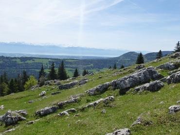 Vue du sommet - Panorama à 360° - Lac de Neufchâtel