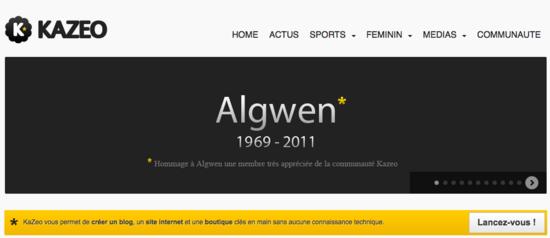 kazeo hommage algwen