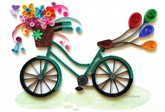 bicycle quilling art