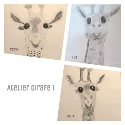 Atelier girafe !