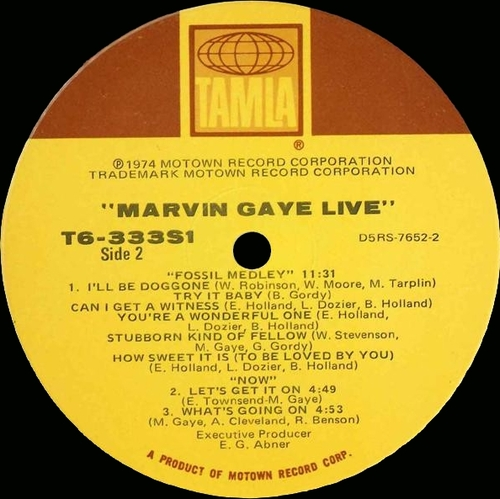 "Marvin Gaye : Album "" Live ! "" Tamla Records T6-333S1 [ US ]"