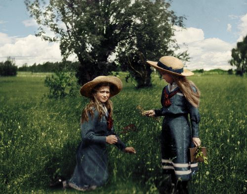 historyofromanovs:   Grand Duchesses Maria Nikolaevna and Anastasia Nikolaevna  Your colourings are getting even more gorgeous everyday, Ally! Amazing.