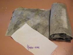 enroulé et vieux tissu