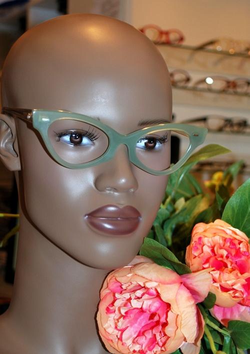 monture femme vert pistache