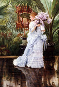 The Bunch of Lilacs - James Jacques Joseph Tissot - www.jamestissot.org
