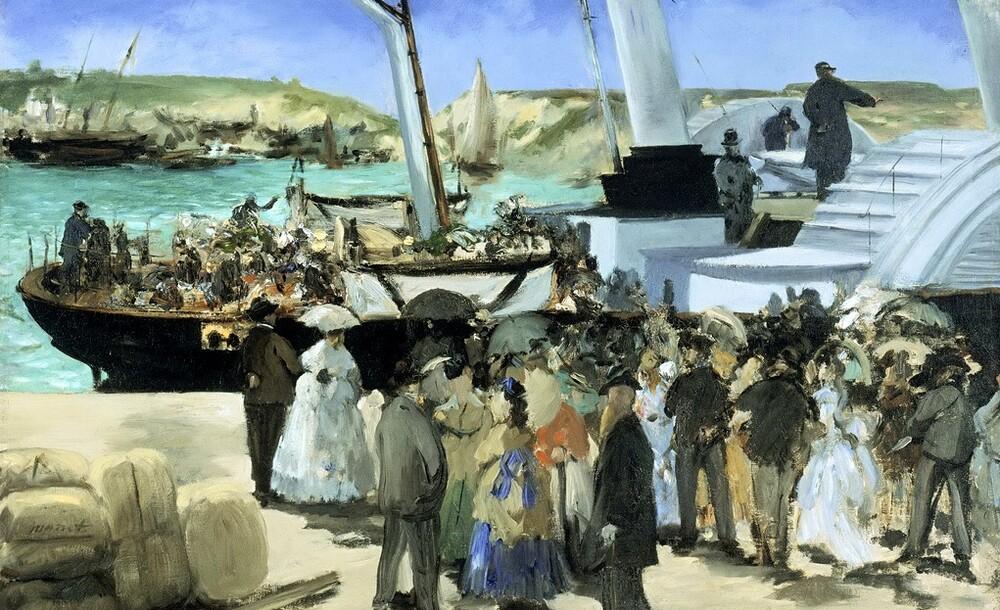 Manet 13 /  1868-l'enterrement de Baudelaire