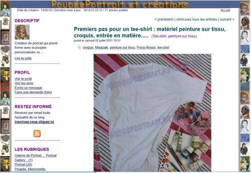 * Article Artblog N°9: Premiers pas pour un tee-shirt