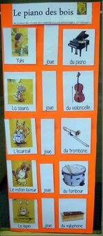 """Fiches """"Le piano des bois"""""""