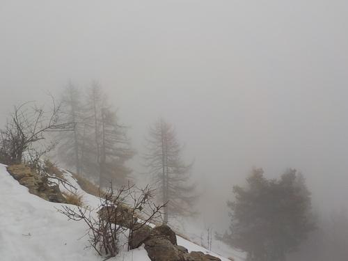 DOMANDALAS  photos randonnée dans le brouillard