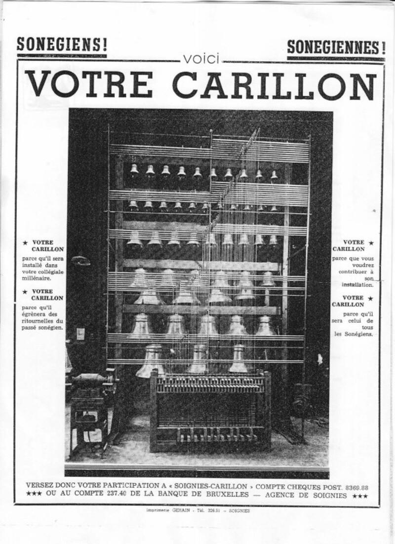 Appel aux Sonégiens et Sonégiennes - Photo du carillon