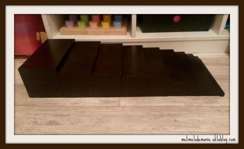 L'escalier marron