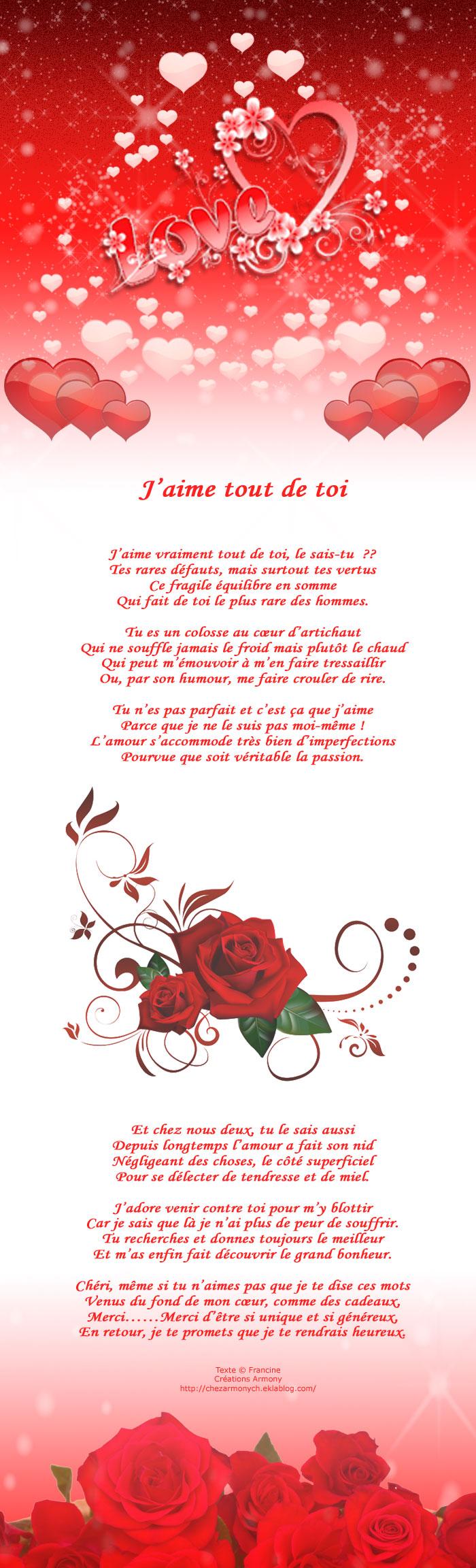 poème st-valentin j'aime tout de toi