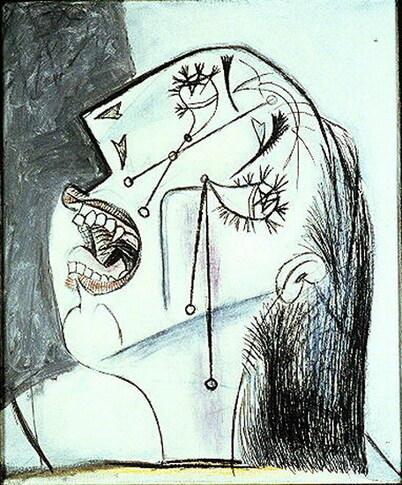 Femmes qui pleurent chez Picasso