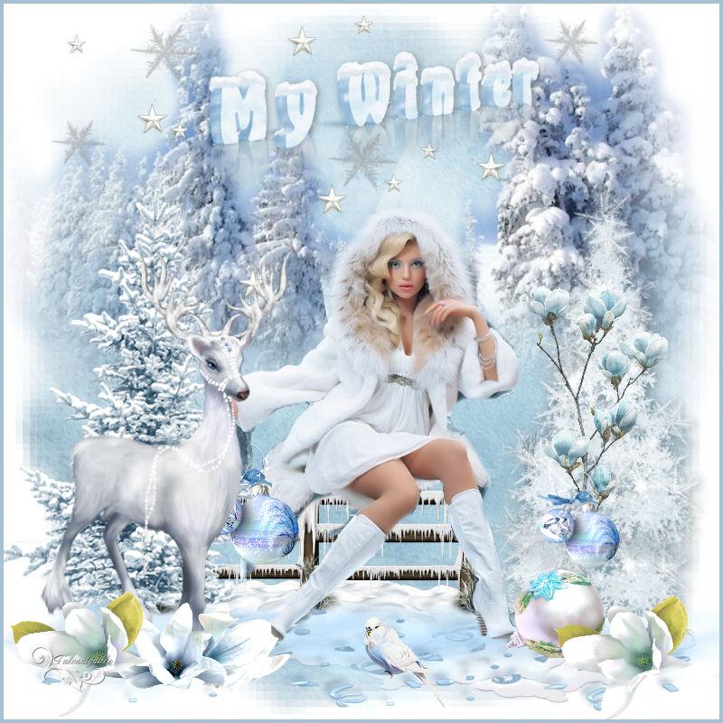 *** My Winter - scrap du 20 Novembre _ sans tuto *** ***