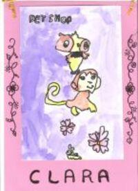 Ma première aquarelle signé Clara 6 ans