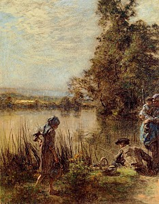 Léon Augustin Lhermitte, Fisherman and His Family