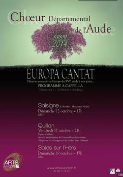 Concerts GESPPE - Choeur Départemental à QUILLAN
