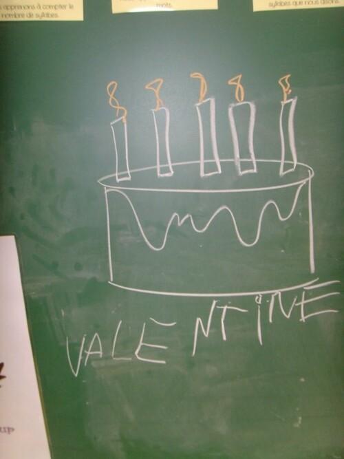 Anniversaire de Valentine