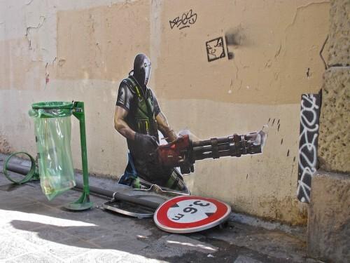guerrier Beaubourg Street-art 5