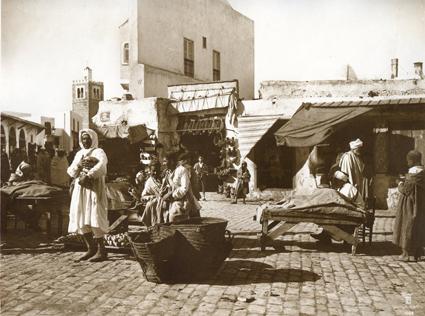 Souk de Tunis. Tunisie. 1910