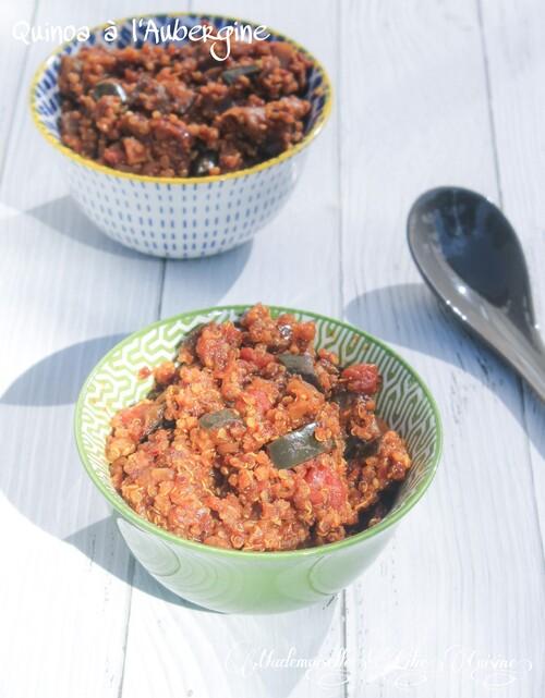 Quinoa à l'Aubergine