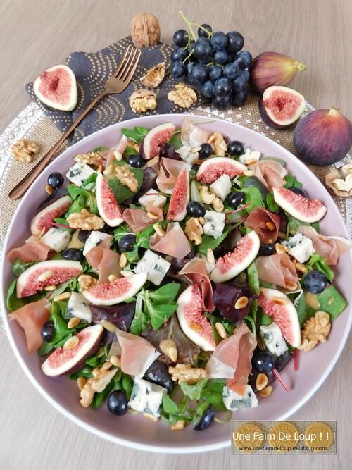 Salade d'automne aux figues roquefort & noix