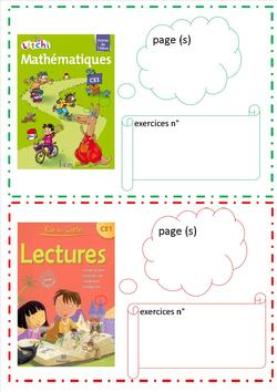 indications de pages