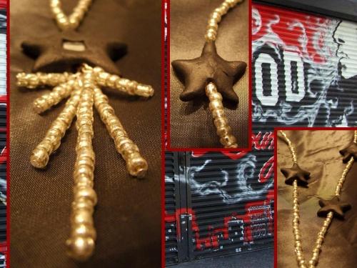 Sautoir étoilé tendance 2011 inspiré par Hollywood Boulevard (CA) réalisé par Sylvie LE BRIGANT