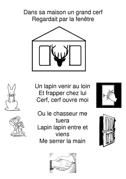 Dans sa maison un grand cerf la maternelle de camille - La temperature ideale dans une maison ...