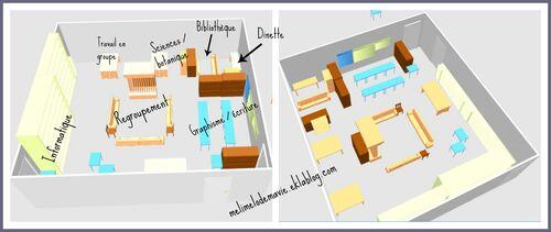 plan classe, aménagement, sweet home 3D, regroupement
