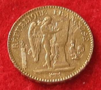 Monnaie 20 francs OR  Génie 1887 a