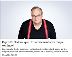 Cigarette électronique : le harcèlement scientifique continue !