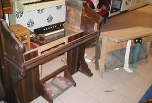 Reed-organ Weaver : démantèlement