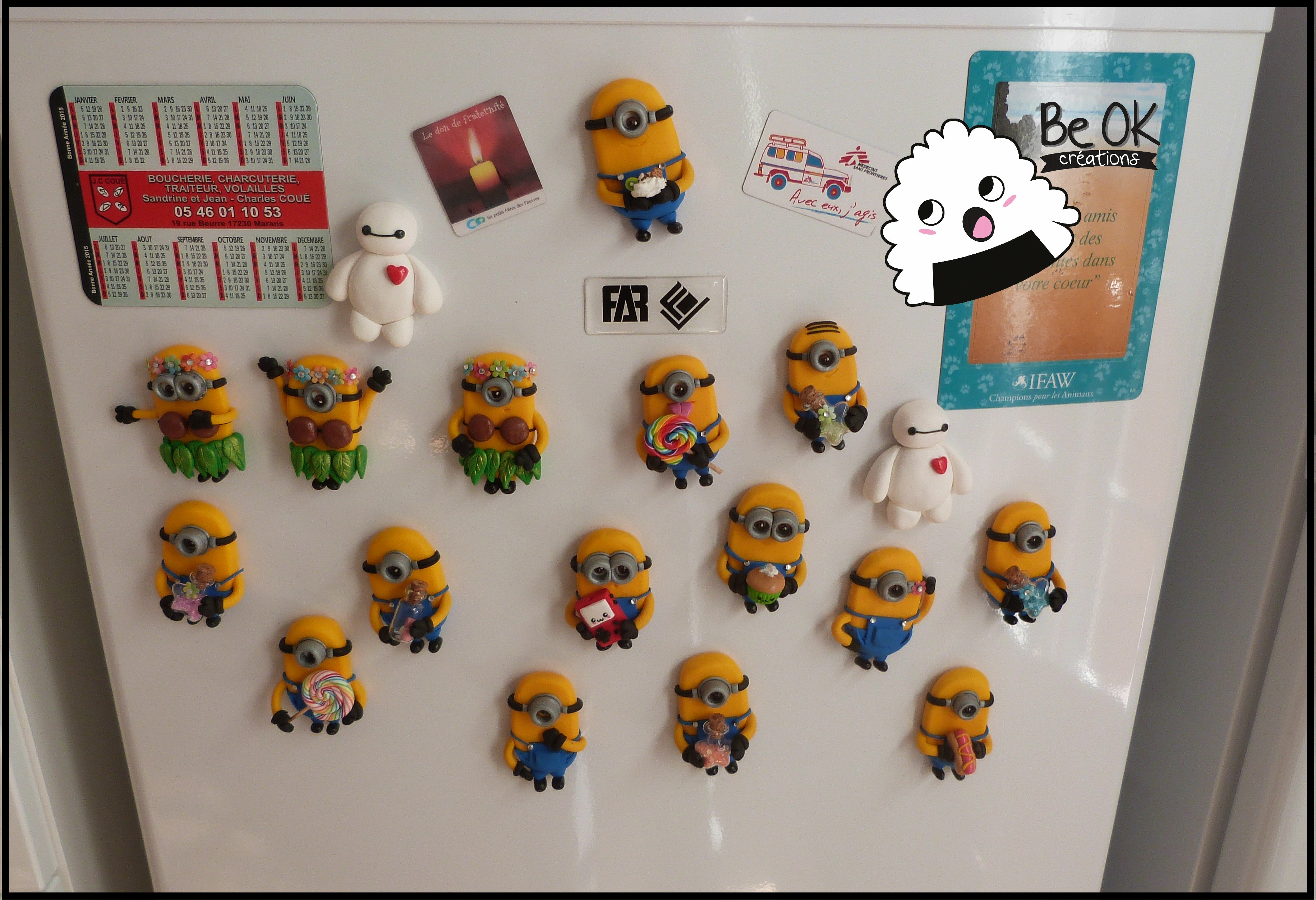 Magnets Minions Fimo Be Ok Cr Ations