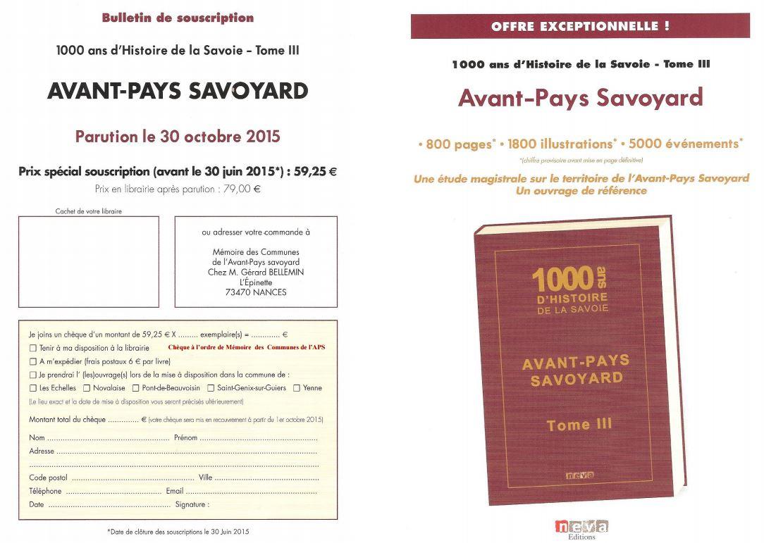 livre sur les 47 communes de l'Avant-Pays savoyard - Commune Sainte Marie  d'Alvey