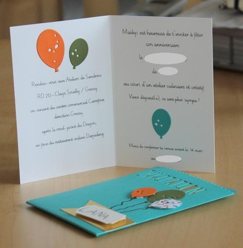 Carte : Invitation pour les 6 ans de Maëlys