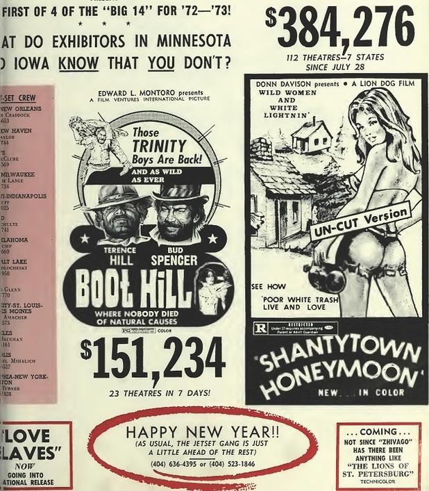 BOX OFFICE USA DU 13/04/1972 AU 19/04/1972